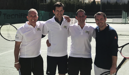 (Left To Right) Andy Jansons, Tim Henman OBE, Neil Shiner & Danny Sapsford