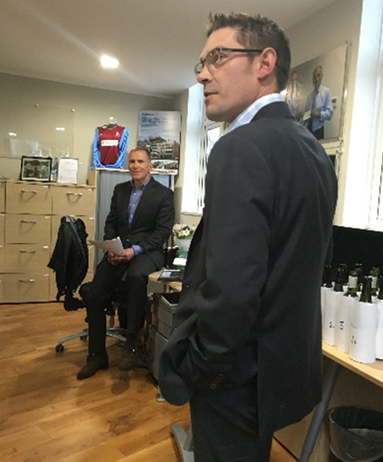 A brief introduction by Matt Nutt of Fells into wine tasting – pre competition with Andy Jansons looking very studious indeed.